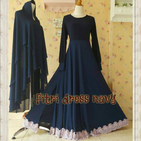 Fitri dress NAVY by Aidha