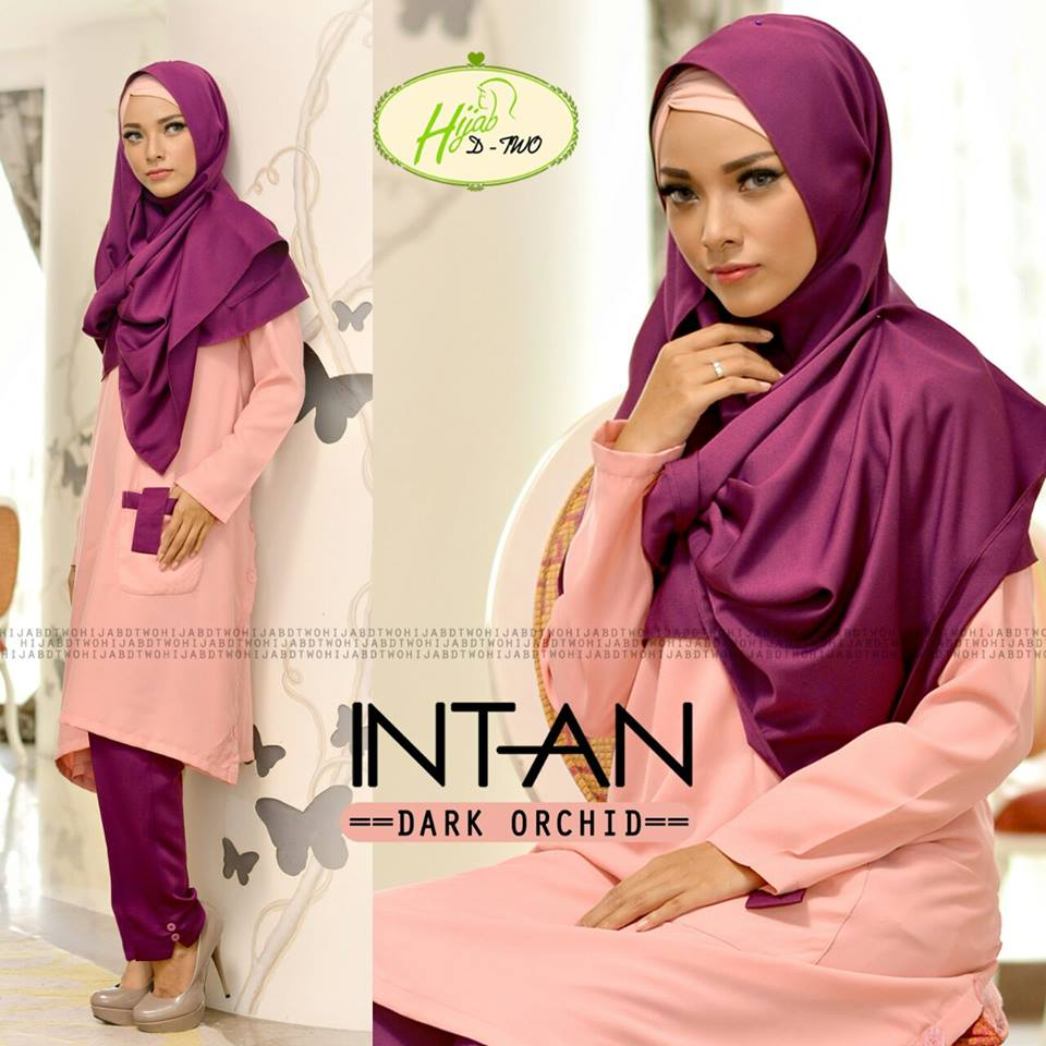 INTAN by D-TWO HIJAB DARK ORCHID