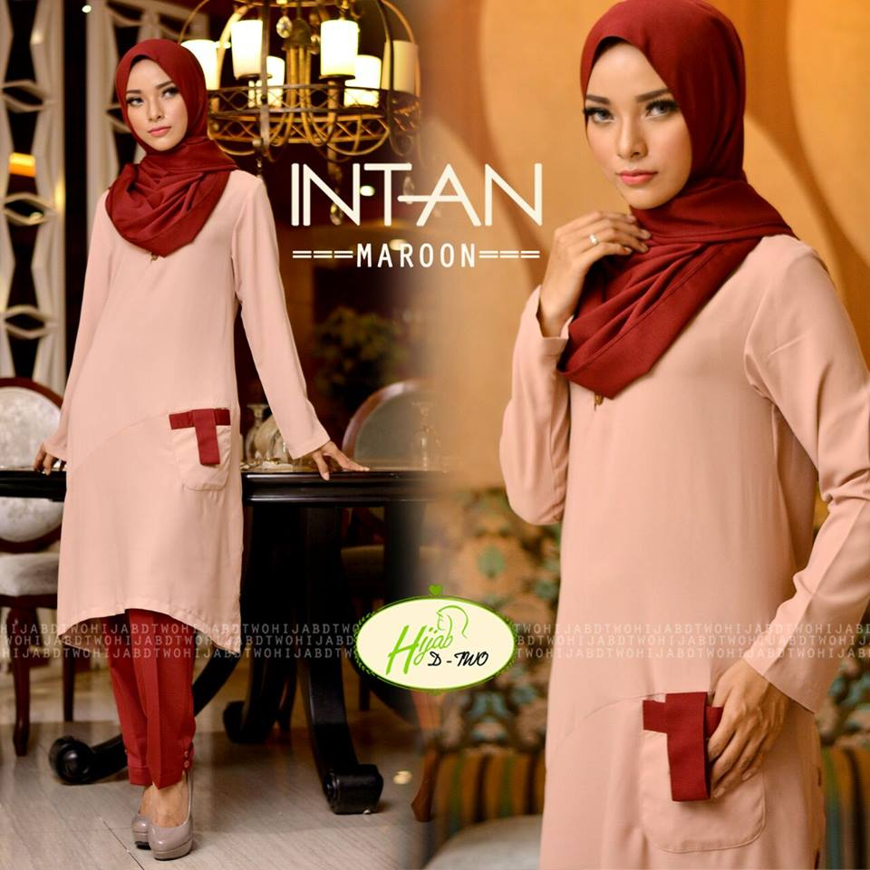 INTAN by D-TWO HIJAB MAROON