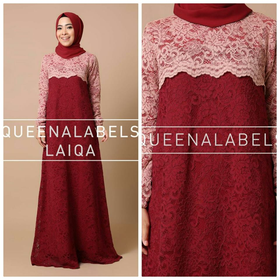 Laiqa by Queenalabels merah