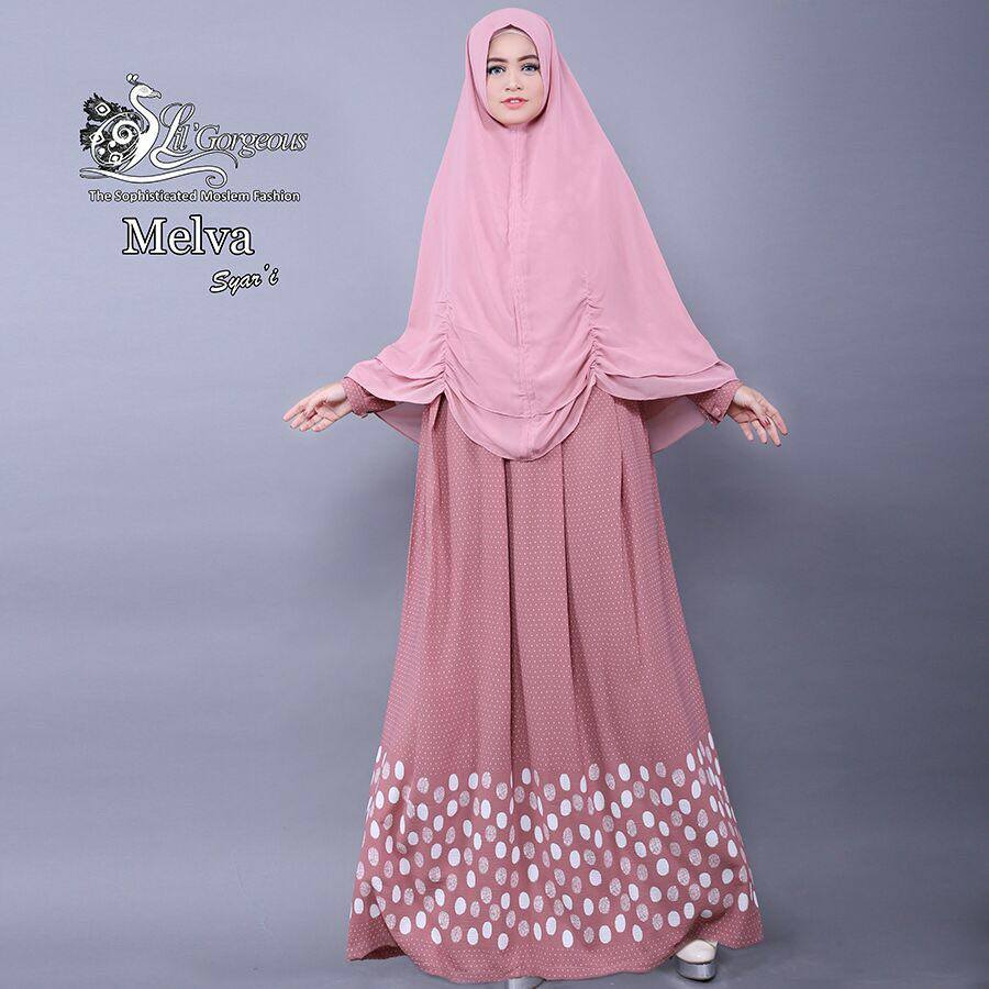 MELVA Syar'i by Lil Gorgeous PINK