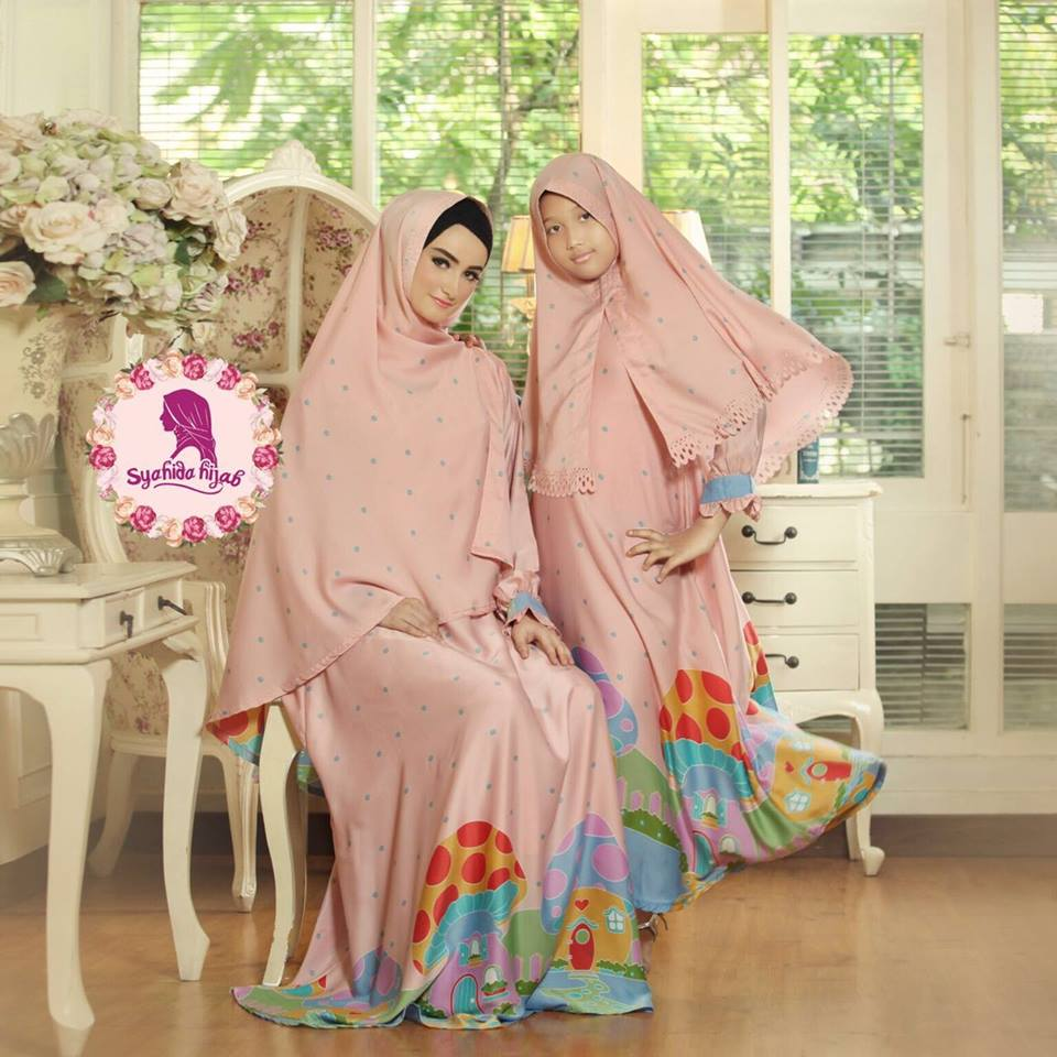 Qalisya Mom & Kids by Syahida peach