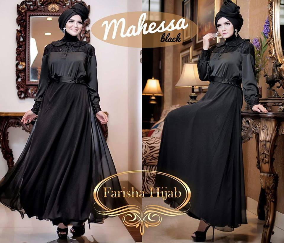 Mahessa Black by Farisha hijab