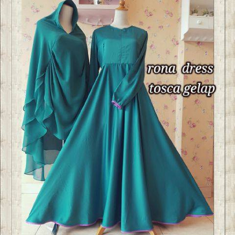 Rona Dress Tosca gelap by AIDHA