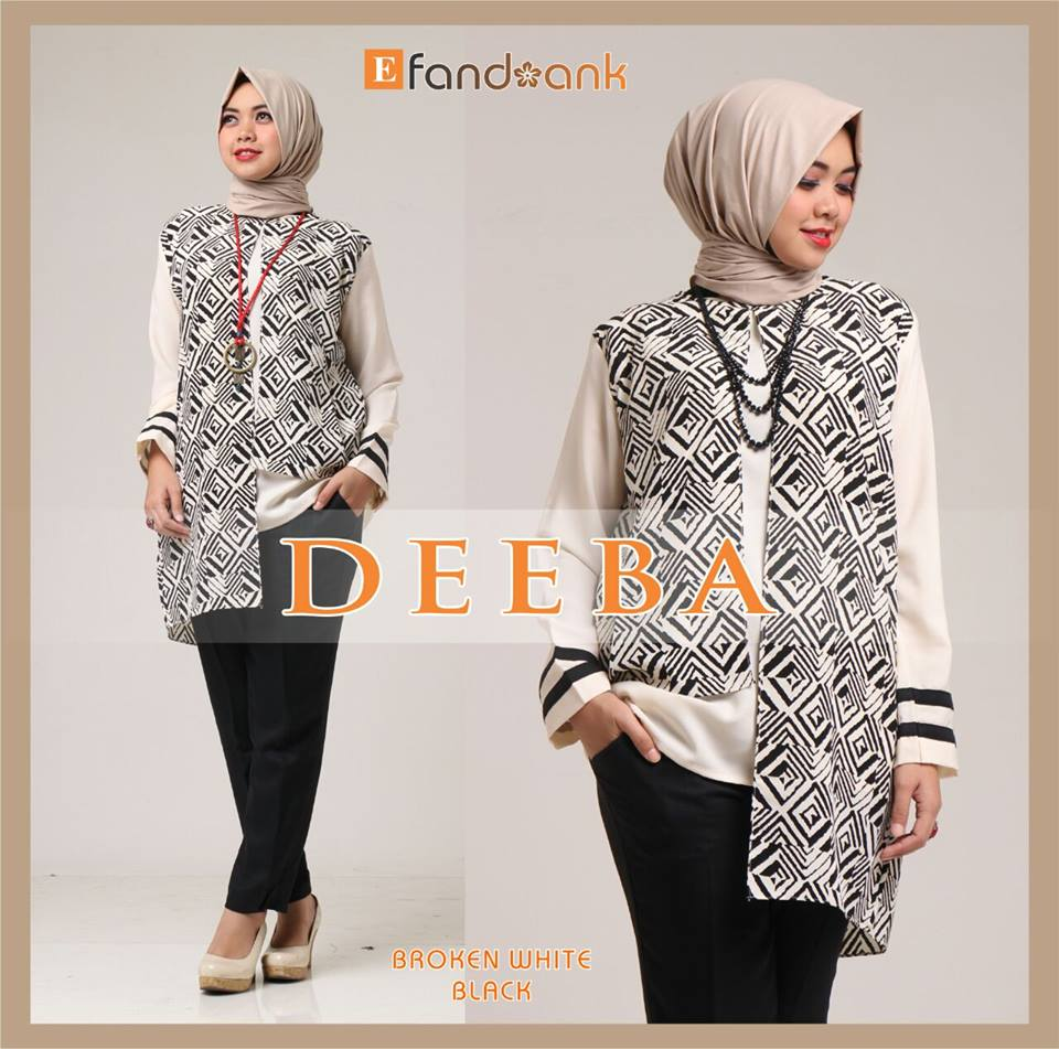 Deeba Broken white black