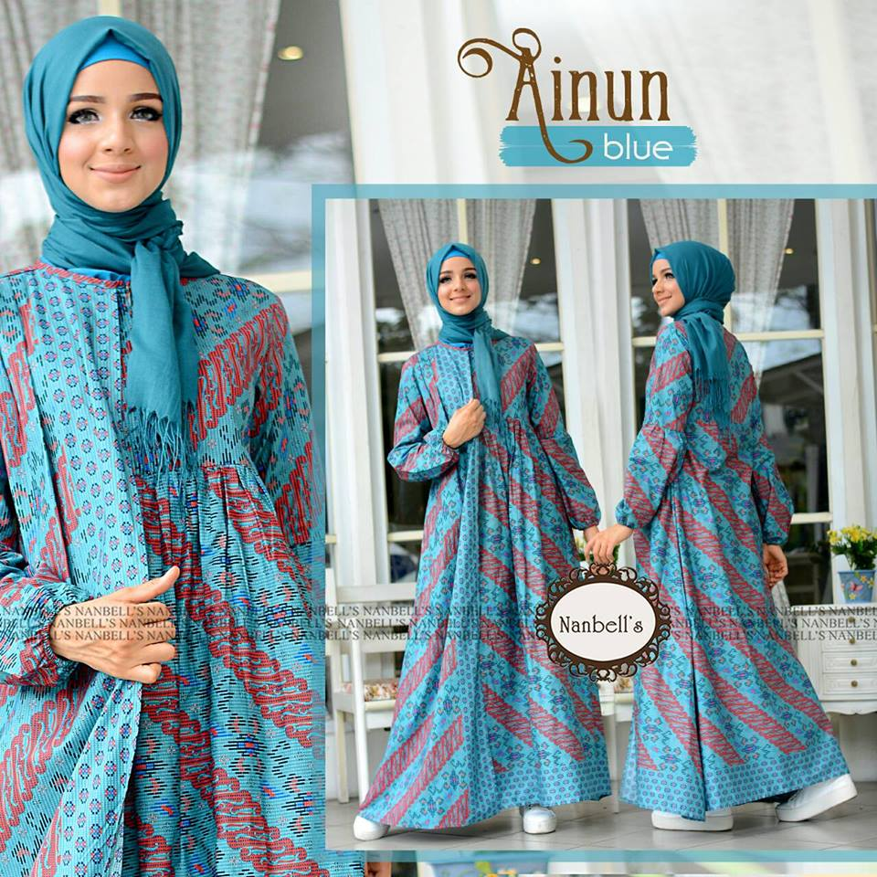 Promo Fariza Tunik Update 2018 Tcash Vaganza 17 Fashion Blouse Atasan Jemia By Ummi Pink Dress Batik Nanbels Blue