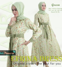 EFRINA DRESS GREEN by ORI NAURA
