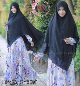 Lamia syar'i A.HITAM by GDA BOUTIQUE