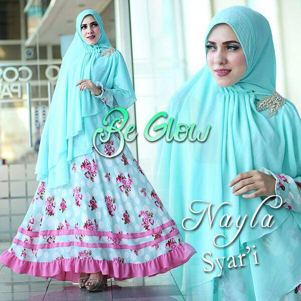 Nayla syar'ie Biru Mint by Be Glow