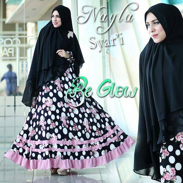 Nayla syar'ie Hitam by Be Glow