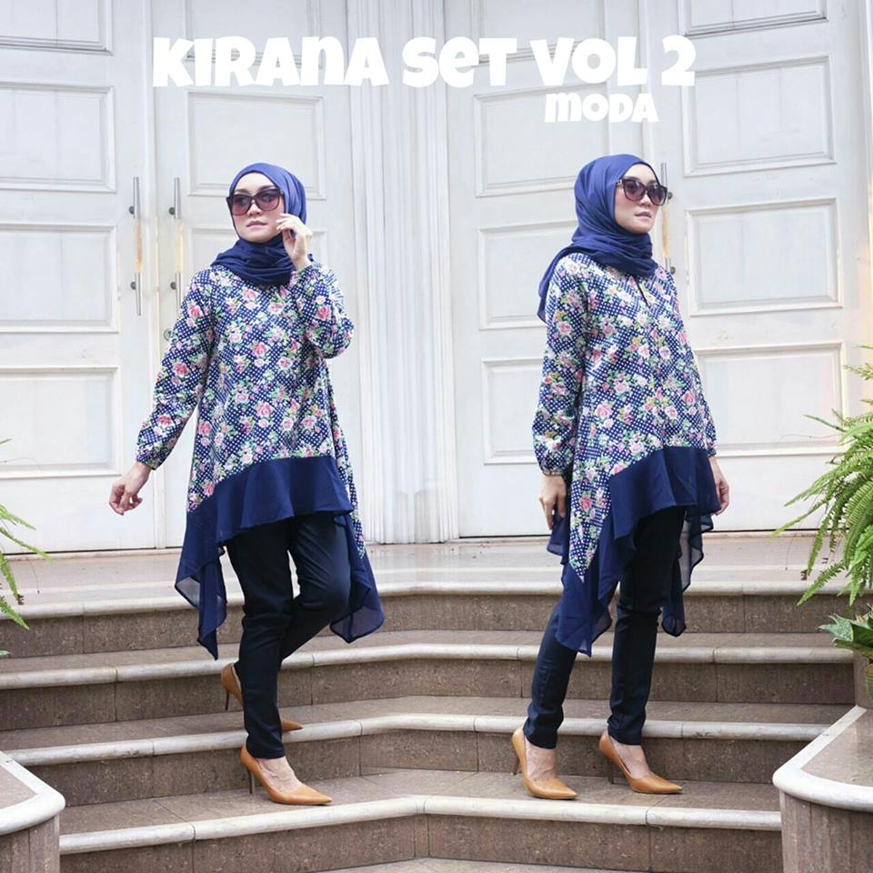New Kirana Set  Vol II Navy by MODA