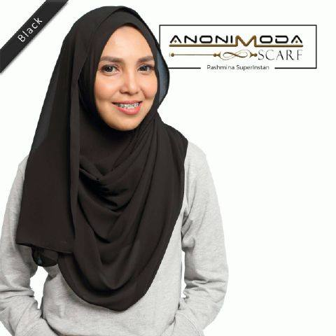Pashmina New Superinstan Hoody Black  by Anonimoda