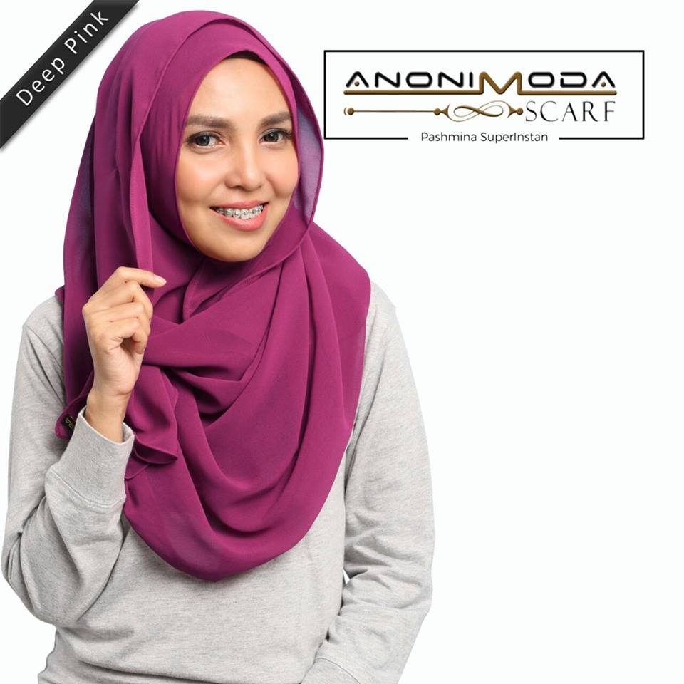 Pashmina New Superinstan Hoody Deep Pink  by Anonimoda