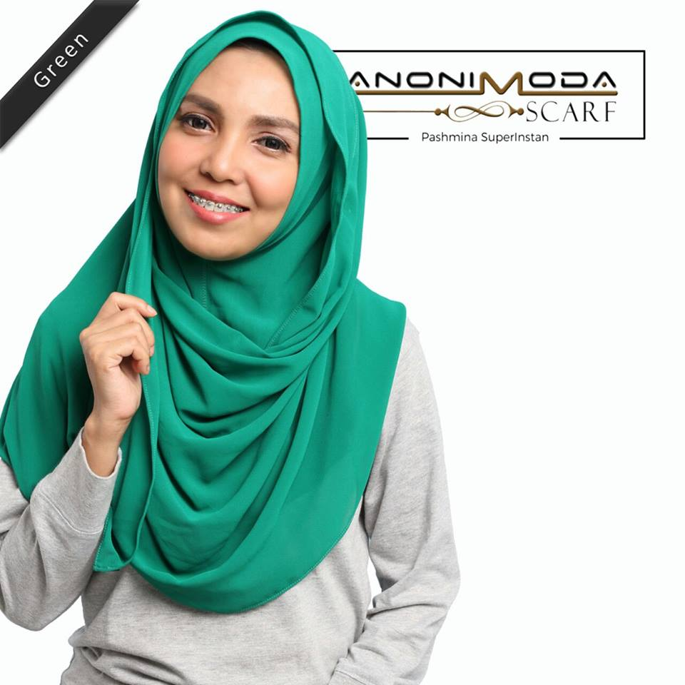 Pashmina New Superinstan Hoody Green by Anonimoda