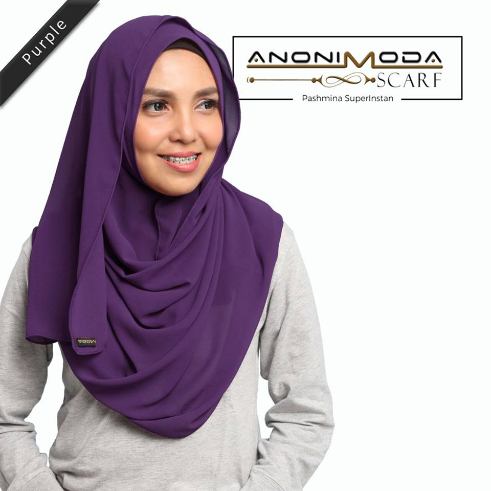 Pashmina New Superinstan Hoody Purple  by Anonimoda