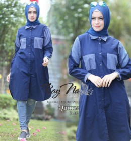 Quinza Tunik NAVY by RAYNA
