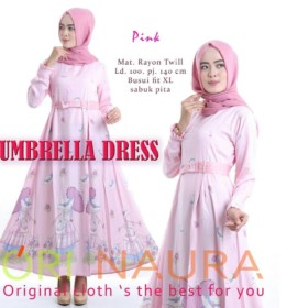UMBRELA DRESS by ORI NAURA PINK