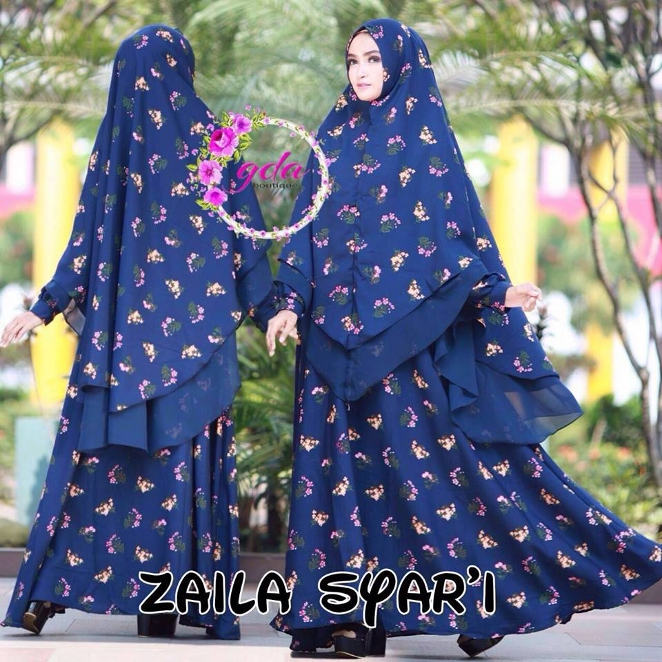 Zaila Syarie Navy By Gda Boutique