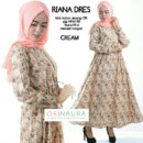 RIANA DRESS by ORI NAURA CREAM