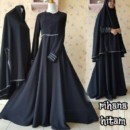 Rihanna dress HITAM by Aidha