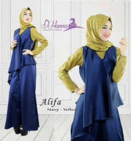 Alifa NAVY YELLOW by D'Hanna