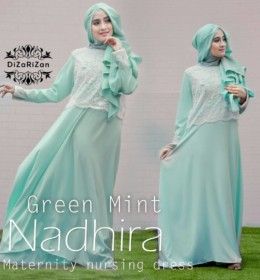 nadhira-maternity-nursing-dress-green-mint-by-dizarizan