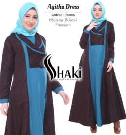 Agitha dress COFFE TOSCA by shaki