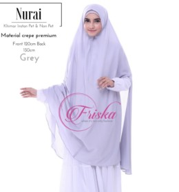 NURAI GREY by Friska Hijab