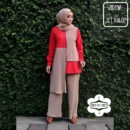 ADENA SET KULOT RED by MODA