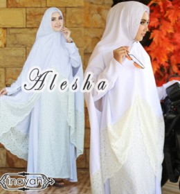 Alesha dress & khimar WHITE