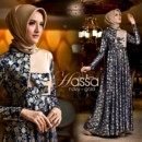 HASSA New party dress NAVY GOLD from Cynarra...