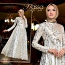HASSA New party dress WHITE GOLD from Cynarra