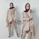 Nafilah tunik grey soft brown
