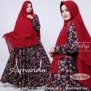 AMANDA Navy Red by SHOFIYA