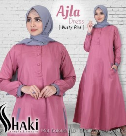 Ajla Dress Dusty Pink by Shaki