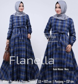FLANELA Navy by SHOFIYA