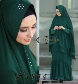 HAUNA GREEN EMERALD by Inayah