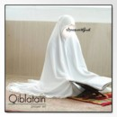MUKENA QIBLATAIN BROKEN WHITE BY ORIMEGUMI