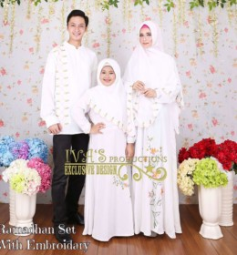 Ramadhan Set With Embroidary BROKEN WHITE by Iva's