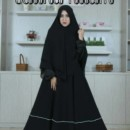 Bainaa Dress Hitam premium by Aidha