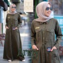 RANIA DRESS Army by INJI