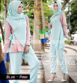 Thalita vol 2 Blue Pink by farishahijab