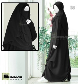 Abaya SG020 Black By Sunnah wear