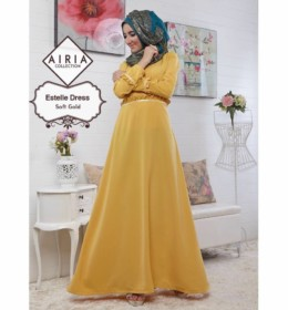 ESTELLE DRESS SOFT GOLD