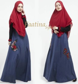Faatina Syar'i Merah Blue Jeans by Lil Gorgeous
