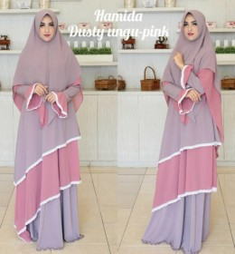 Hamida dress Dusty Pink Ungu by Aidha