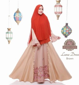 LUNA DRESS Brown
