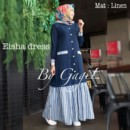 eisha dress navy by gagil