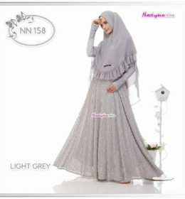 NN158 ( Dress + Khimar 2 Layer ) l