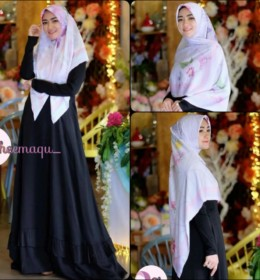 Nura dress only & Sabrina scraft bl